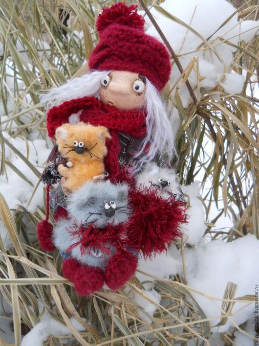Куклы и игрушки ручной работы. Ярмарка Мастеров - ручная работа. Купить Теплуша (Сколько снегу привалило!!). Handmade. Комбинированный, рыжий