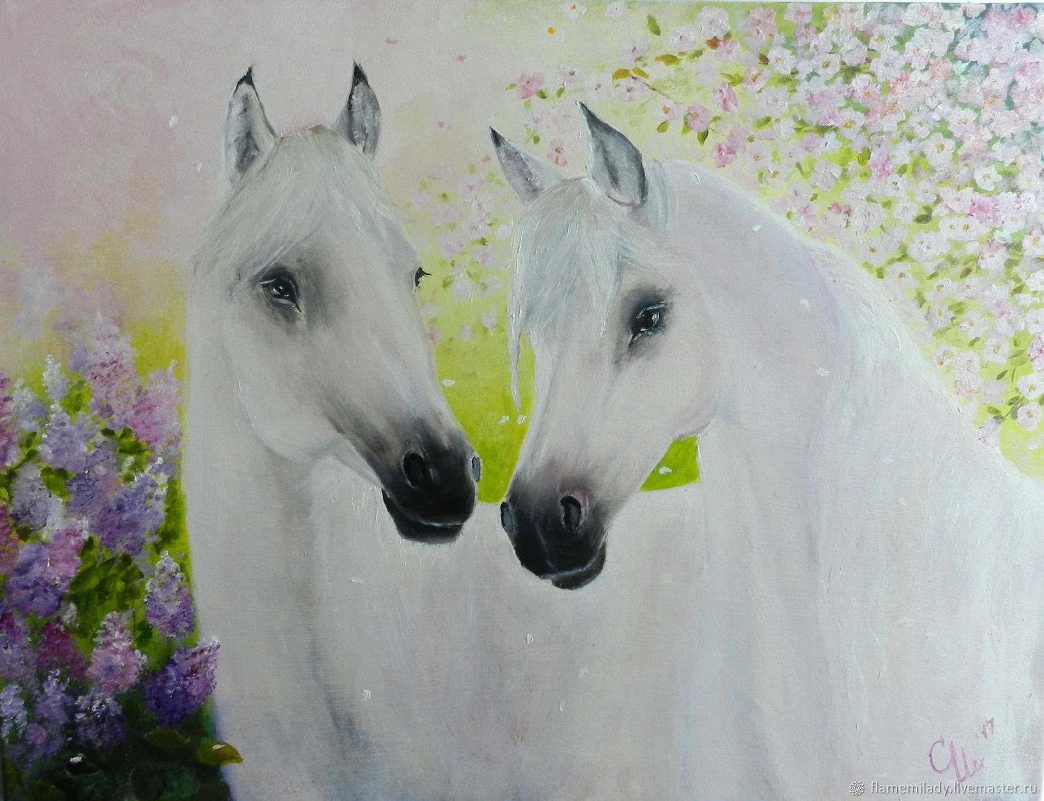 Painting with horses Breath of spring oil painting, Pictures, Ekaterinburg,  Фото №1
