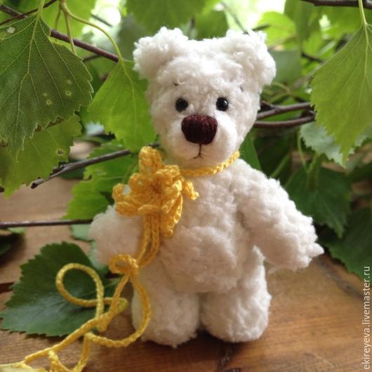Мишки Тедди ручной работы. Ярмарка Мастеров - ручная работа. Купить Белый Медвежонок. Handmade. Маленький мишка, подарок