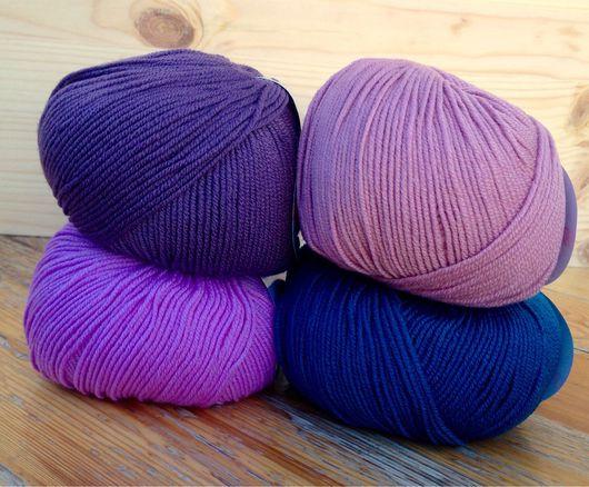 Вязание ручной работы. Ярмарка Мастеров - ручная работа. Купить Пряжа итальянская 100% шерсть 3 цвета. Handmade.