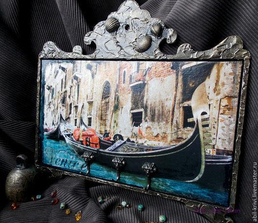 Прихожая ручной работы. Ярмарка Мастеров - ручная работа. Купить Ключница Венеция. Handmade. Ключница, сны о венеции, прихожая, ракушки