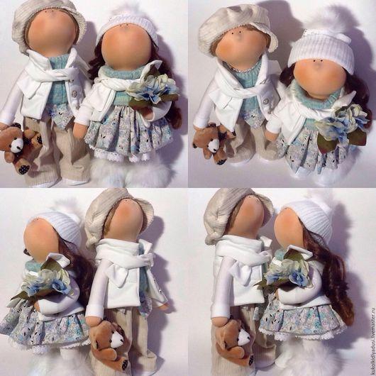 Человечки ручной работы. Ярмарка Мастеров - ручная работа. Купить Парочка куколок. Handmade. Разноцветный, куколки для подарка, кукола для интерьера