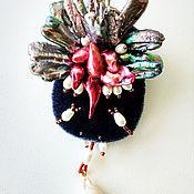 handmade. Livemaster - original item Fuchsia Colored Pearl Pin Brooch. Handmade.