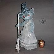 Куклы и игрушки handmade. Livemaster - original item Cat Witch (familiar) Teddy kitty. Handmade.