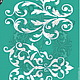 Декупаж и роспись ручной работы. Ярмарка Мастеров - ручная работа. Купить Трафарет на клеевой основе Т-20. Handmade. Зеленый