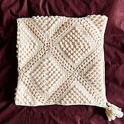 "Для дома и интерьера handmade. Livemaster - original item ""Waiting for a miracle"" plaid from Italian cotton yarn. Handmade."