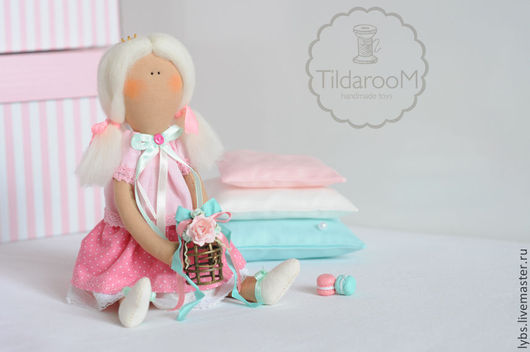 Принцесса на горошине в стиле Тильда. Авторская ручная работа. Мастерская `Tildaroom` (Люба Морозова) ©