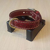 Для домашних животных, handmade. Livemaster - original item Personalized dog collar for small dogs made of genuine leather. Handmade.