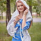 Свадебный салон ручной работы. Ярмарка Мастеров - ручная работа Венчальный наряд в синих тонах. Handmade.