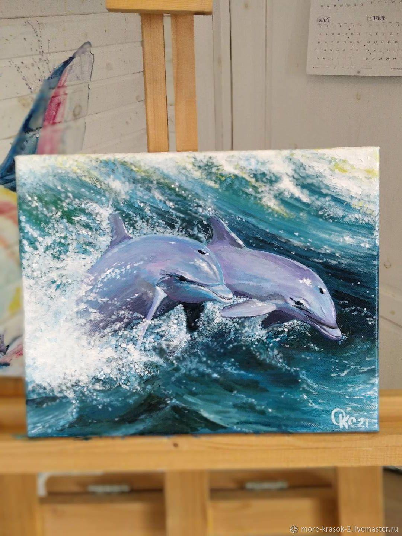 Дельфины, Картины, Санкт-Петербург,  Фото №1