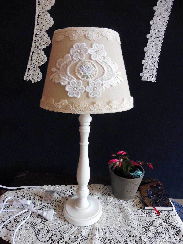 """Настольная лампа """" """"Кружевной амулет"""" (голубой), Ceiling and pendant lights, Gera,  Фото №1"""