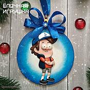 Елочные игрушки ручной работы. Ярмарка Мастеров - ручная работа Елочные игрушки: Гравити Фолз (Gravity Falls) Диппер. Handmade.