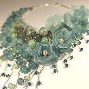Украшения handmade. Livemaster - original item Water Parfait. Necklace with removable floral decoration.. Handmade.
