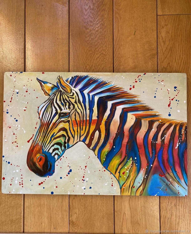 Zebra. pop art, Pictures, Moscow,  Фото №1