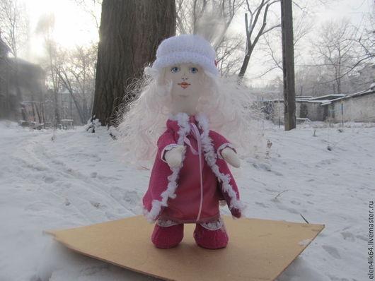Детская ручной работы. Ярмарка Мастеров - ручная работа. Купить Текстильная кукла Снежана. Высота 35 см.. Handmade. Фуксия