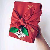 Упаковка ручной работы. Ярмарка Мастеров - ручная работа Фурошики Эко-упаковка для подарков из хлопка М. Handmade.