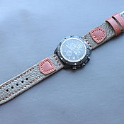 handmade. Livemaster - original item Hand made watch strap 24 mm / Apple Watch. Handmade.