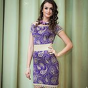 """Одежда ручной работы. Ярмарка Мастеров - ручная работа фиолетовое летнее платье """"Пейсли"""". Handmade."""