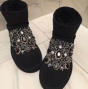 """Обувь ручной работы. Ярмарка Мастеров - ручная работа Угги со стразами """"Kristi"""" натуральные. Handmade."""