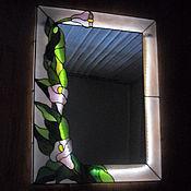 """Для дома и интерьера ручной работы. Ярмарка Мастеров - ручная работа Зеркало тиффани """"Нежные цветы"""". Handmade."""