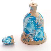 """Колокольчики ручной работы. Ярмарка Мастеров - ручная работа Колокольчик и наперсток """"Голубая роза"""". Handmade."""