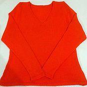 Одежда ручной работы. Ярмарка Мастеров - ручная работа Оранжевый свитер. Handmade.