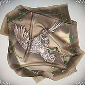 """Аксессуары ручной работы. Ярмарка Мастеров - ручная работа Шелковый платок """"Прекрасная птица"""" батик. Handmade."""