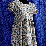 """Платья ручной работы. Ярмарка Мастеров - ручная работа Льняное платье """"Цветочное настроение"""". Handmade."""
