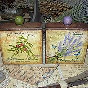 """Для дома и интерьера ручной работы. Ярмарка Мастеров - ручная работа """"Прованс"""" - набор из 2-х коробов. Handmade."""