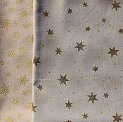 Материалы для творчества ручной работы. Ярмарка Мастеров - ручная работа Ткань для пэчворка новогодняя Снежинки и звезды. Handmade.