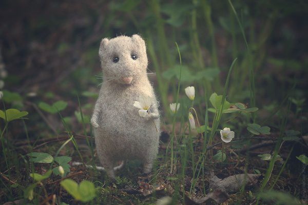"""Forest mouse"", Felted Toy, Moscow,  Фото №1"