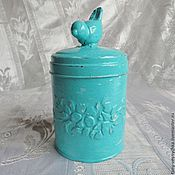 Для дома и интерьера handmade. Livemaster - original item Bird Jar for kitchen. Handmade.