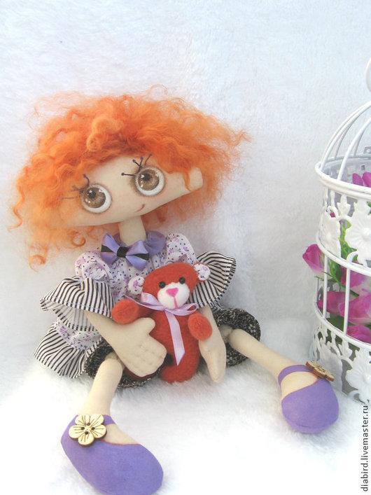 Кукла текстильная интерьерная, Лапочка. Украшение интерьера, оригинальный подарок! Текстильная авторская интерьерная кукла ручной работы.