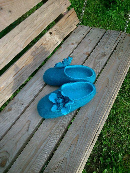 Обувь ручной работы. Ярмарка Мастеров - ручная работа. Купить Тапочки с любовью. Handmade. Тапочки из шерсти, Мокрое валяние