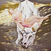 Картина маслом Спящая Венера, 60х80см