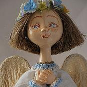"""Куклы и игрушки ручной работы. Ярмарка Мастеров - ручная работа """"Весенний ангел""""- ангел с веночком. Handmade."""