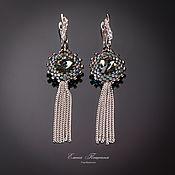 Украшения handmade. Livemaster - original item Gray Silver. Earrings silver grey long. Handmade.