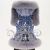 """Одежда ручной работы. Ярмарка Мастеров - ручная работа Жилет с отстегивающимся капюшоном """"Морозко-5"""" с мехом серого песца. Handmade."""