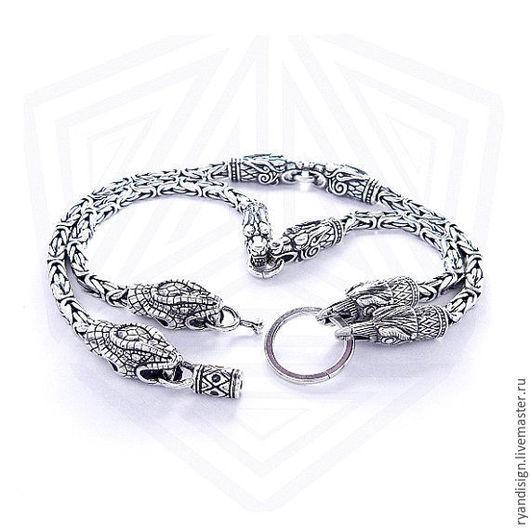 Серебряная цепочка тотемная (мужская или женская, цепь из серебра)