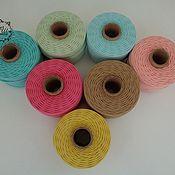 Материалы для творчества handmade. Livemaster - original item Twisted cotton rope, 2mm. Handmade.