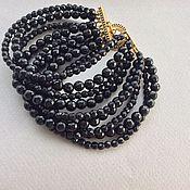 Украшения handmade. Livemaster - original item Bracelet BLACK EYES of black agate. Handmade.