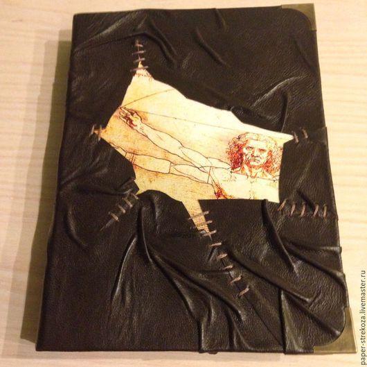 """Блокноты ручной работы. Ярмарка Мастеров - ручная работа. Купить Блокнот """"Да Винчи"""". Handmade. Коричневый, натуральная кожа"""
