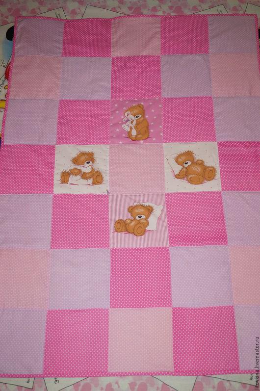 """Пледы и одеяла ручной работы. Ярмарка Мастеров - ручная работа. Купить Одеяло""""Розовые сны"""". Handmade. Розовый, теплый, нежный, хлопок"""