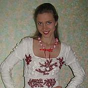"""Одежда ручной работы. Ярмарка Мастеров - ручная работа """"Рябина на снегу"""" по мотивам  платья от Кензо. Handmade."""