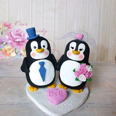 Свадебный салон ручной работы. Ярмарка Мастеров - ручная работа Копия работы: Фигурки на свадебный торт Пингвины. Handmade.
