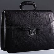 Сумки и аксессуары handmade. Livemaster - original item A portfolio of Python skin, the inner filling leather IMP0582B. Handmade.