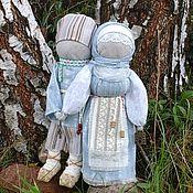 """Куклы и игрушки ручной работы. Ярмарка Мастеров - ручная работа кукла-оберег семья """"светлый день"""".. Handmade."""