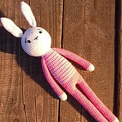 Куклы и игрушки handmade. Livemaster - original item Knitted hare crochet handmade buy a knitted toy for a child. Handmade.