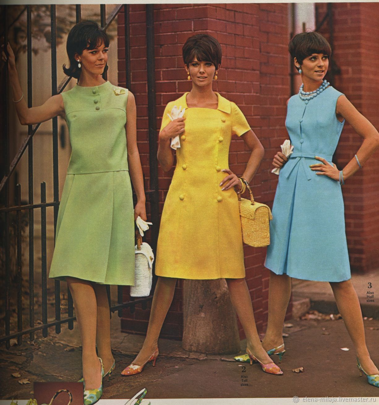 Фото платья 60-70 годов