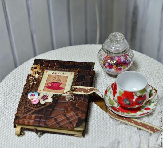"""Блокноты ручной работы. Ярмарка Мастеров - ручная работа. Купить Блокнот """"Шоколадное удовольствие"""". Handmade. Коричневый, блокнот в подарок"""